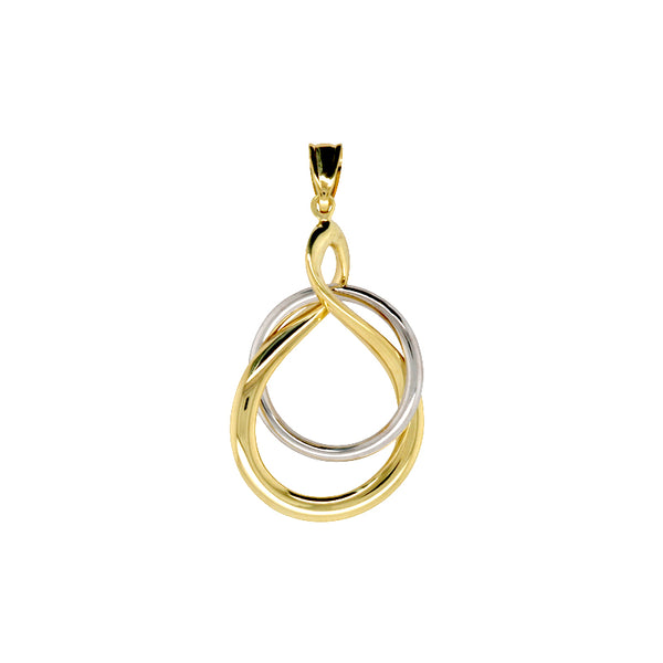 9k Yellow & White Gold, Silver Bonded Pendant