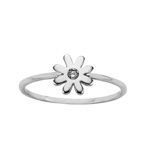 Karen Walker Stg Diamond Set Daisy Ring