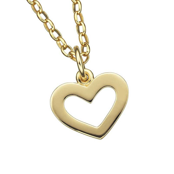 Karen Walker Open Heart Gold Pendant & Necklace