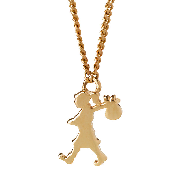 KAREN WALKER 9K YELLOW GOLD MINI RUNAWAY GIRL NECKLACE 45CM