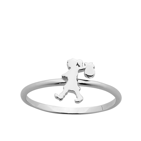 kAREN wALKER Stg Mini Runaway Giirl Ring Lds M/Q