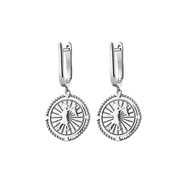 Karen Walker Stg Silver Voyager Earrings