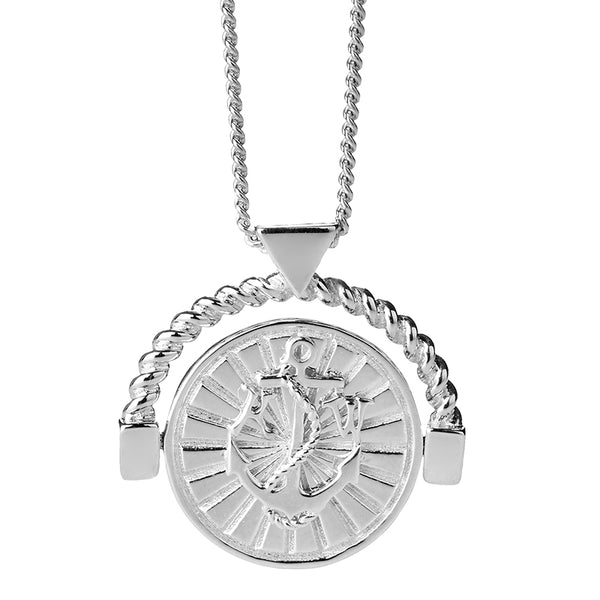 Karen Walker Silver Voyager Spin Necklace