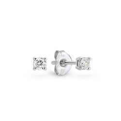 9K White Gold Claw Set Diamond Earrings / StudS TDW 0.20 GH I1