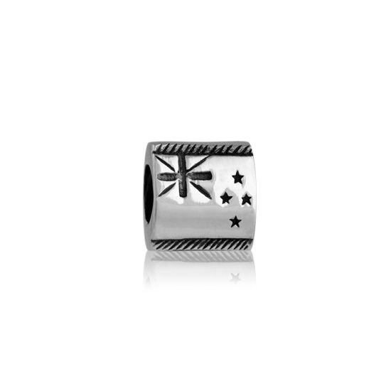 Evolve Charms Silver NZ Flag LK032