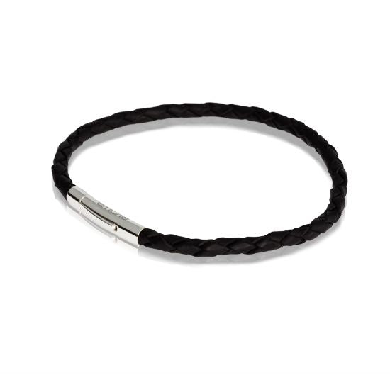 Evolve Bracelets & Bangles CHARM CARRIER Black Single Twist Leather Bracelet LKBEL-BK19-1
