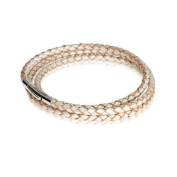 Evolve Bracelets & Bangles Pearl Triple Twist Leather Bracelet 18CM LKBEL-PL18-3