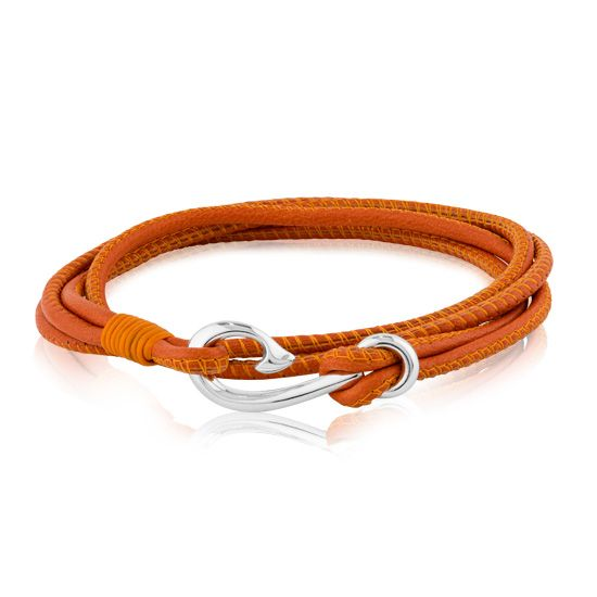 Evolve Bracelets & Bangles Safe Travel Wrap Bracelet Burnt Orange 19 CM LKBWOS19