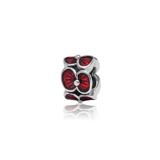 Evolve Charms Enamel Remembrance Poppy LKE040