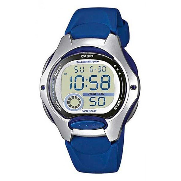 Casio Ladies Digital Watch Blue 50M