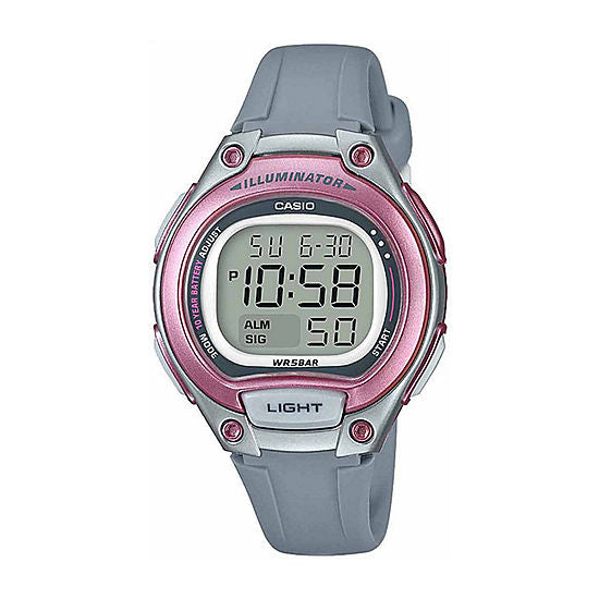 CASIO LADIES DIG WATCH 10 YR BATTERY LED BACKLIGHT 50M WR