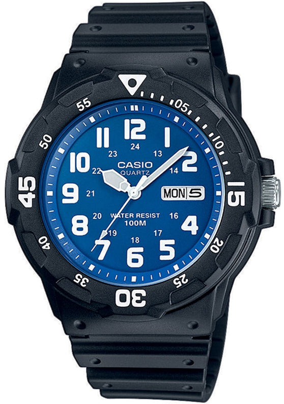 Casio Mens 100M Analogue Watch (Blue/Blk)