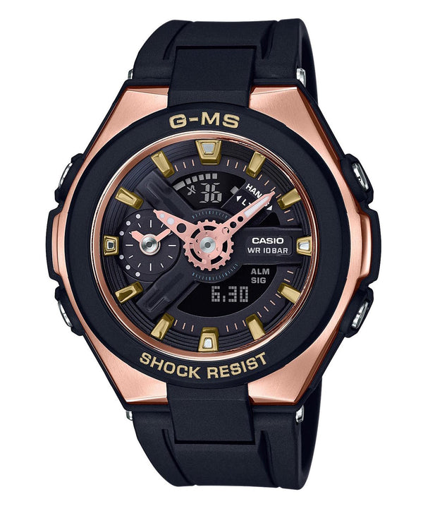 CASIO BABY G ANA/DIG RESIN, ROSE COLD BLACK STRAP