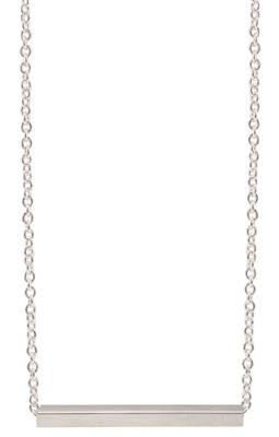 STG SILVER SQUARE (3.0mm) TUBE(35mm) WITH 45CM CABLE CHAIN NECKLACE