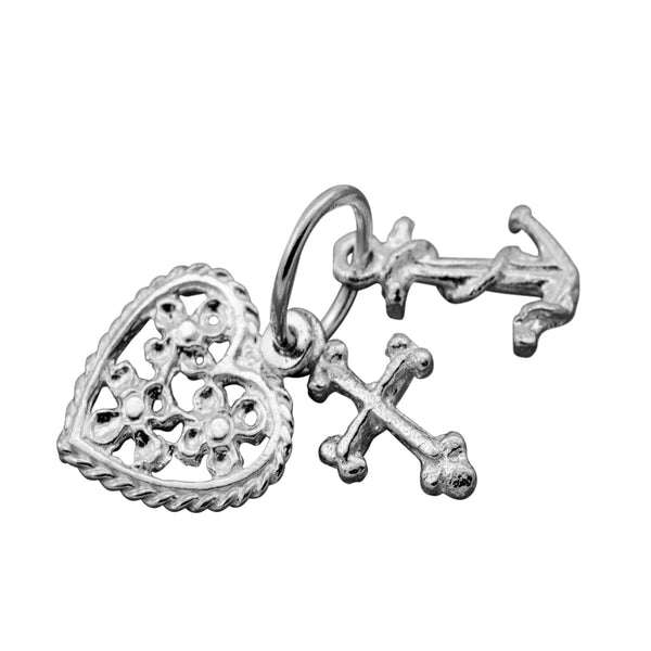 Traditional Silver Charm Faith_Hope_Charity_Filigree_grande