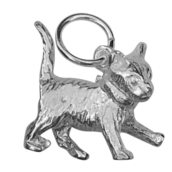 Traditional Silver Charm Kitten