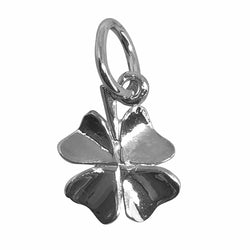Traditional Silver Charm Four_Leaf_Clover