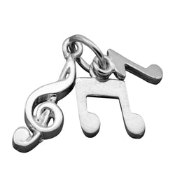Traditional Silver Charm 3 Piece Music Note