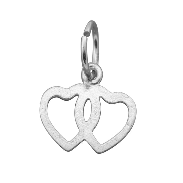 Traditional Silver Charm Linked_Hearts