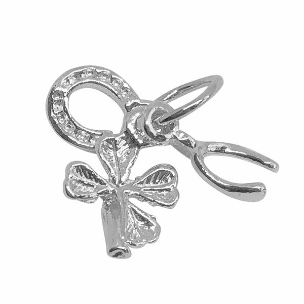 Traditional Silver Charm Good Luck