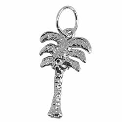 Traditional Silver Charm Flat Palm Tree