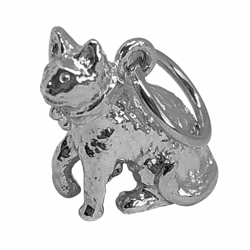 Traditional Silver Charm Cat_with_Bow