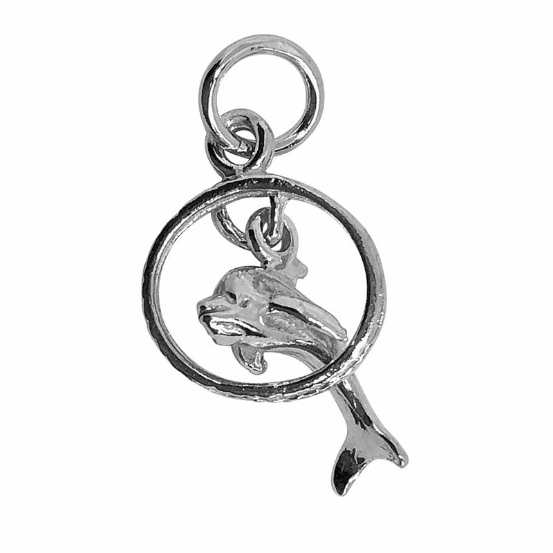 Traditional Silver Charm Dolphin_in_Moveable_Ring