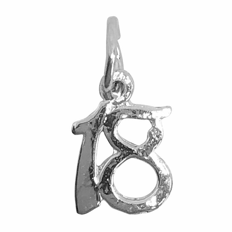 Traditional Silver Charm Number18