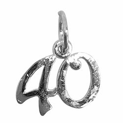 Traditional Silver Charm Number 40
