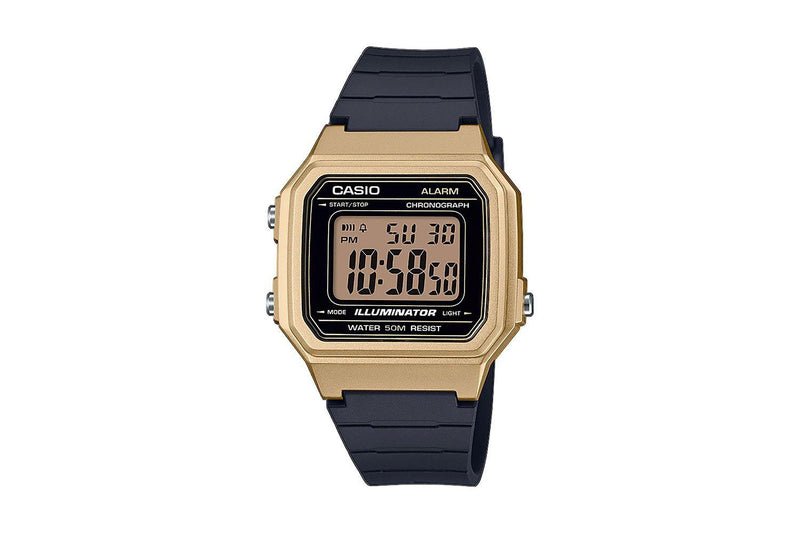 CASIO LADIES DIGITAL GOLD CASE RESIN STRAP