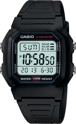 Casio Mens Digital Watch 100M