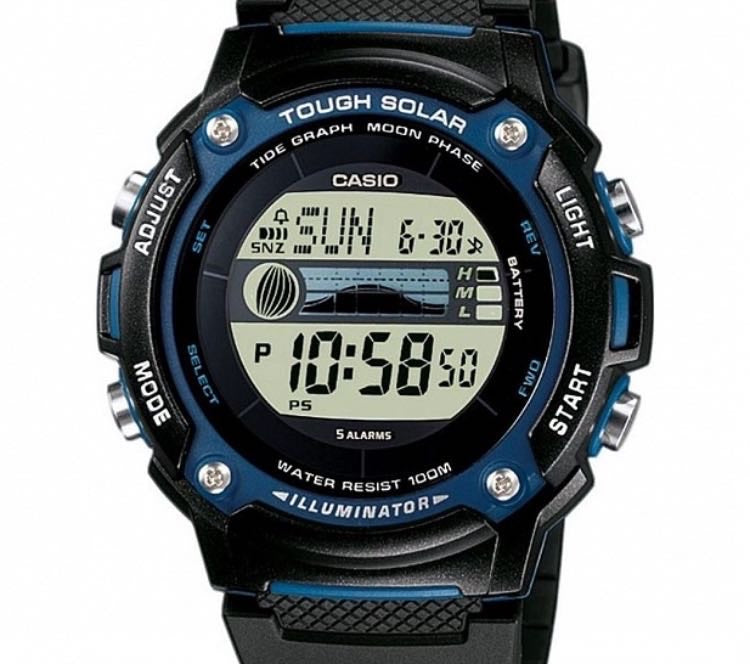 CASIO MENS 100M WR DIGITAL WATCH WITH TIDE GRAPH
