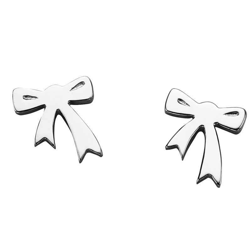 Karen Walker Stg Silver Mini Bow Earrings