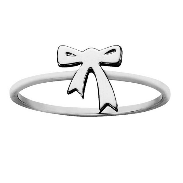 Karen Walker Stg Silver Mini Bow Ring