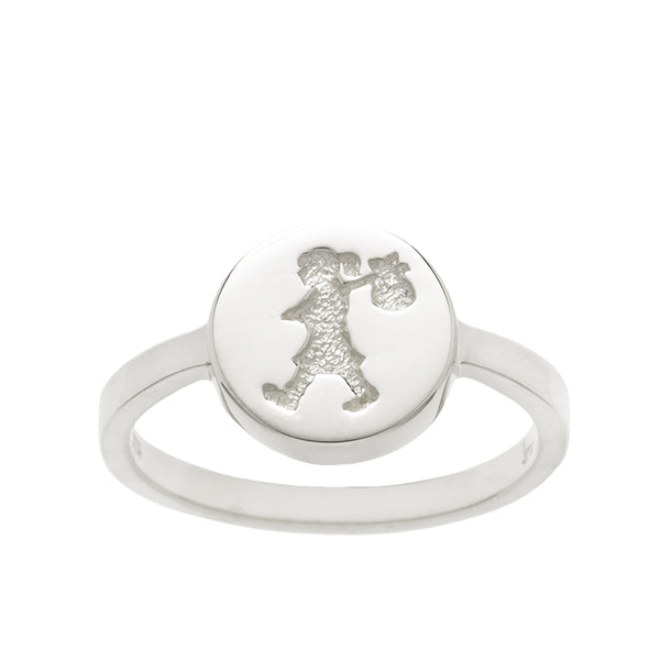 Karen Walker Stg Silver Runaway Stamp Ring