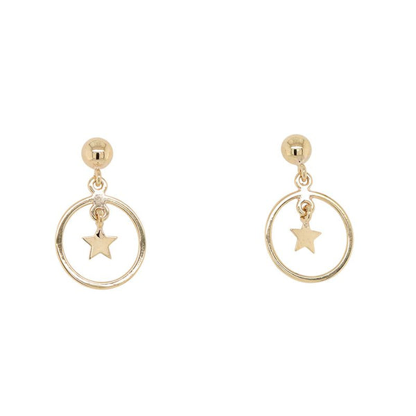 9K YELLOW GOLD EARRINGS