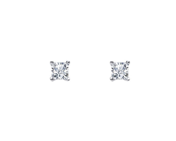 SS 4MM PRINCESS WH CZ CLAW STUDS