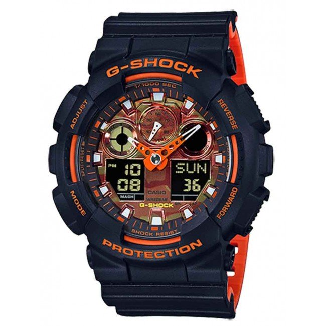 CASIO G-SHOCK BURNT ORANGE MATTE BLACK ANA/BIG