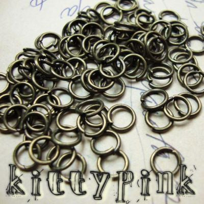 400 4mm Antique Gold Jumprings Open Jump Rings