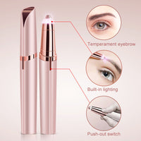 Eyebrow Trimmer Painless Eye Brow Epilator for Women Shaver Razors Portable Facial Hair Remover
