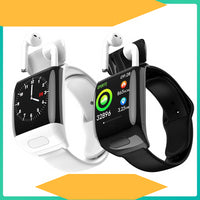 G36 Smart Watch with TWS true Wireless Bluetooth Earphone music Earbud Torntisc L16 ECG Heart rate Blood Pressure Smartwatch
