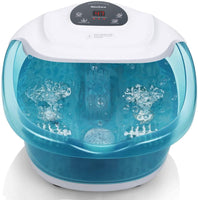 Foot Spa Bath Bucket Massager with Heat Bubble Vibration 3 in 1 Function