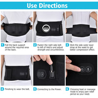 Far Infrared Heated Therapy Waist Massage Low Back Belt Herniated Disc Scoliosis Pain Relief Spine Lumbar Brace Support Massager
