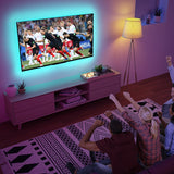 colorRGB TV Backlight LED USB Powered  TV ambilight RGB5050 For 24 Inch-60 Inch TV,Mirror,PC, APP Control Bias led strip light
