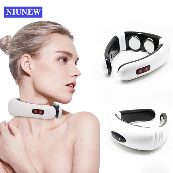 New Electric Pulse Back 6 Modes Pain Relief Health Care Massager For Neck