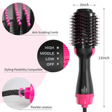 3 in 1 Hair Straightener Hot Air Brush Electric Hair Dryer Blower Straightening Curling Hairdryer Hot Air Brush Styling Tools