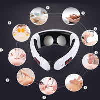 New Electric Neck Massager Pulse Back 6 Modes Power Control Far Infrared Heating Pain Relief Tool Health Care Massager For Neck