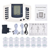 Physiotherapy Electric Pulse Acupuncture Therapy Machine Muscle Stimulator and Pain Relief16 Pad