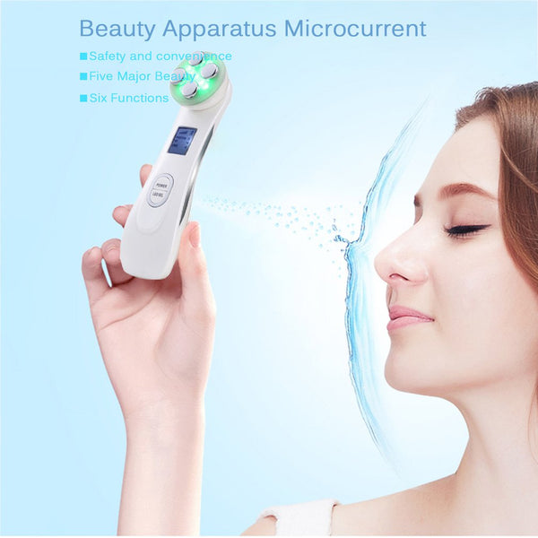 RF Radio Frequency LED Photon Facial Mesotherapy Electroporation Face Lifting Tighten Wrinkle Removal Skin Care Face Massager