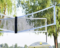 Outdoor Portable Four-sided Cross Beach Volleyball Net Professional Bracket Set Adjustable Height Parent-Child Toy